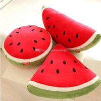 Wholesale Decorated Pillows - 40--55cm 1 piece cartoon Watermelon pillow at home decorate Fruit plush toys birthday gift for Children kids toys