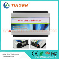 Wholesale Grid Tied Solar System - DC to ac on grid tie inverter 600w Best quality with lcd display ac pure sine wave for home standard system use solar panel
