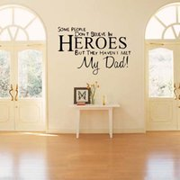 Wholesale Kids Room Wall Art Quotes - For My Dad Hero Wall Quotes Decal Stickers Kids Boys Decor Removable Vinyl Diy Bedroom Sitting Room Art Mural