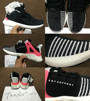 Wholesale Run Support - With Box Men'S Eqt Support 97 ADV Running Shoes Fashion Running Sneakers for Men and Women Turbo Red Black White Red