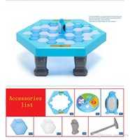 Wholesale Penguin Kids Games - Funny Toy Penguin Trap Learning Funny Game Interactive Ice Breaking Table Buidling Blocks Toy Penguin Trap Education Toy for Kids