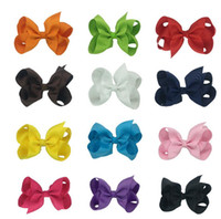 Wholesale African Bowl - Brand new Candy color children hairpin bow bowling Alice flowers selling bursts of ribbon headdress FJ135 mix order 60 pieces a lot