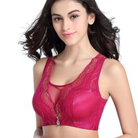 High Quality Full Cup Wire Free Vest Bra Girs Ladies Push Up Moda Brassiere Lace Sexy Women Bra Plus Size 36 38 40 42 44 Frete Grátis