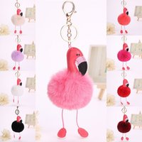 Fur Fluffy Flamingo Key Rings Pendant