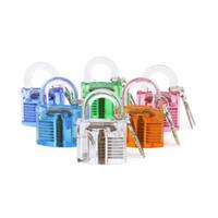 Wholesale Folk Artwork - New Arrival 6pcs set Transparent Whole Plastic Padlock Artwork Display Lock with Plastic Cylinder