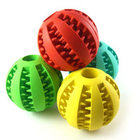 Wholesale Leakage Tool - Pet Toys Natural Rubber Leakage Of Food Ball Chew Molar Tooth Tool Wearable Spherical Gnaw Colorful Plaything 4 9gg J R