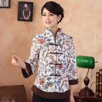Wholesale Womens Chinese Blouses - Summber Fashion Chinese tradition Linen Womens blouse shirt tops size S M L XL XXL XXXL