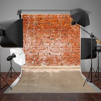 SUSU Brick Backdrop No Crease Material Red Brick Wall Fond d'écran 5x7ft pour Photo Booth Backdrops