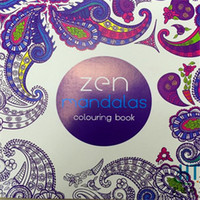 Wholesale English Books For Children - Zen Mandalas 128 Pages 21x21cm English Coloring Drawing Book Children Adult Graffiti Painting Drawing Book Relieve Stress for gift Free