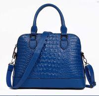 Wholesale Trend Shell Bag - 2017 new Korean fashion trend crocodile pattern female package shell bag handbag shoulder Messenger bag low sale