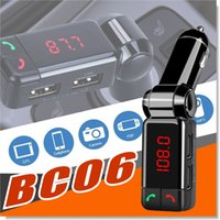 Wholesale Digital Stereo Receivers - BC06 Car Charger High Performance Digital Wireless Bluetooth Fm Transmitter in-car Bluetooth Receiver fm Radio Stereo Adapter