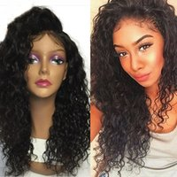 Wholesale Long Curly Real Hair Wigs - 100% Real Unprocessed Human Hair Wig with Baby Hair Brazilian Virgin Glueless curly Lace Wig Lace Front Wig