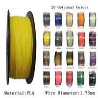 Wholesale 3d Spool - 1KG Roll 2.2LBS Spool MuLticolor PLA 1.75mm Filament 3D Printer Filament Flexible and Environmental Consumables Material 3D Printer Filament