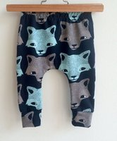 Wholesale Kids INS pp pants fashion baby toddlers boy s girl s animal fox wolf figure pants trousers Leggings B
