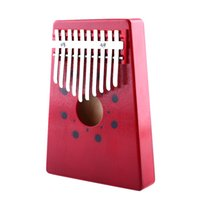 Venta al por mayor- Rojo 10Keys Kalimba Mbira Thumb Piano Instrumento Musical Tradicional Portable Thumb piano Keyboard Instruments