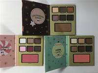 Wholesale hot cool wear - 2017 Cool Item faced 7 colors eyeshadow gift shadow 3 kinds Gingerbrcao Cookie Eggnog latte Peppermint Mocha hot item