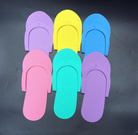 Wholesale Disposable Flip Flop Slipper - EVA Foam Salon Spa Slipper Disposable Pedicure thong Slippers Disposable slippers Beauty Slipper Free Shipping 200pcs