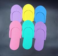 ingrosso pantofole monouso-Pantofole monouso di bellezza Pantofole monouso Pantofole usa e getta Pantofole monouso per pantofola Spa in schiuma EVA Spedizione gratuita 200 pezzi
