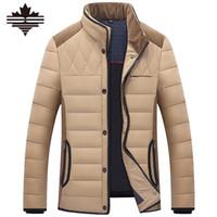Wholesale Mu White - Wholesale- Mu Yuan Yan Autum Winter Men's Duck Down Jacket Snow Warm Clothing Man Down Jackets Stand Collar Overcoat Big Size 3XL 2XL