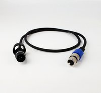 Wholesale Xlr Male Female Cables - IP65 male to IP20 Female Waterproof DMX cable Adapter from 3PIN FeMale XLR Connector TO IP65 male Connector