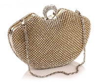 Wholesale ladies hand purse wedding resale online - New Design Bridal Hand Bags Party Bags Wedding Handbag Diamond Clutch Messenger Purse Chain Shoulder Bag Bolsa Feminina Purse
