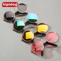 Wholesale Hipidog Pet Cool Glasses Fashion Glasses with Box Pet Dogs Cat Eye wear Glasses Sunglasses Eye wear Protection Pet Photos Props Multi Colors