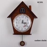 Wholesale Cuckoo Clock Antique - Wholesale-free shipping wood light-controlled time cuckoo clocks machine core cuckoo clock wall clock KAIROS