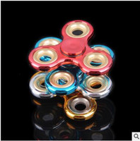 Wholesale Cheapest Camo - Cheapest Camo Electroplating dazzle colour Fidget Spinner three colors can choose