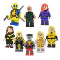 Wholesale Hope Summers - Super Heroes Building Blocks Toys For Children Mini Deadpool Medusa Karnak Dazzler Hope Summers Figures Kids Gifts Bricks Toy 8pcs lot