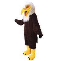 Wholesale Eagle Mascot Costume Plush - eagle mascot costume EMS free shipping, high quality carnival party Fancy plush walking hawk mascot adult size.