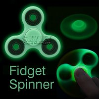 Vehicle Plastic Big Kids Luminous Fidget Spinner Tri Spinner Finger Toys For Hand Spinner Acrylic ABS Plastic Metal Gyro Decompression Anxiety Toys With Package
