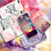 Wholesale Custom Landscapes - 2017 Classic Beautiful Landscape with Inspiron Slogan TPU Custom Phone Case DIY Phone Cover For iPhone Samsung Huawei
