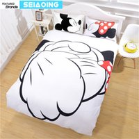 Wholesale Bedding Good Comforter Set - good friend Mickey minnie mouse bedding sets 3pc cartoon comforter covers kid twin full queen king size 3d bed linens girl gifts