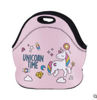 Wholesale Thermal Insulated Pouch - Cartoon 3D Unicorn Leaf Emoji Poop Dessert Coffee Office Pouch Thermal Insulated Waterproof Neoprene Lunch Bag Kids Lunch Bags Lunch Box