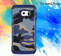 Wholesale I5s Phones - For iphoneX 8 7 plus Camo Camouflage Phone Case Hybrid TPU+PC leather Armor Cover cases for iphone6 plus i5s Samsung S8 plus S6 S7 edge