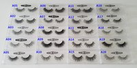 Wholesale D Fur - Fast Free Shipping DHL EMS 1 Pair 20 Styles OEM Acceptable Real 3D Multi-Layered Mink Hair Fur Eyelashes Messy Luxury Eye Lashes
