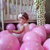 Wholesale Minnie Party Supplies - 12 Inch 20pcs Lot Happy Birthday Decoration Blue 1 Year Old Birthday Balloons Minnie Mouse Party Supplies Pink Balloons
