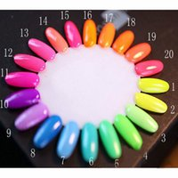 Wholesale Sweet Colors Nails - Brand Colorful Fluorescent Nail Polish Luminous Nail Lacquer Pure Sweet Colors Neon Enamel Paint Glow In the Dark 7ml