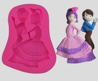 Wholesale Dancing Mold - 10PCS LOT, Dancing Boy and Girl Fondant Cake Chocolate Cookies Sugarcraft Mold Cutter Silicone Mould Bake Tools DIY Hot Sale!