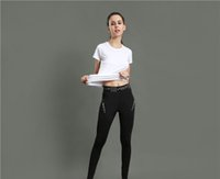 Wholesale Tight Black Stretch Pants - Tight pants female sports training fitness yoga pants stretch tight reflective printing