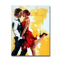 Wholesale couple animals painting - beautiful dancers painting hand painted canvas painting of dancers artistic oil paintings nude couple