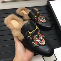 Wholesale Custom High Heels Shoes - Brand new high-end custom leather shoes, the inner fuzz wears comfortable breathable, high-quality fashion casual men's slippers.