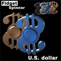 Dollari USA Symbol Hand Spinner 4colors Triangolo Fingertips Spiral Dita Gyro Torqbar Fidget Spinner <b>Decompression Toys</b>