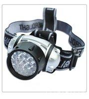 Wholesale L2 Flashlight - New 21LED Headlamps 3 Modes Head Light Lamp Flashlight For Hiking Camping Night Fishing Waterproof Headlamp No 3 * AAA batteries
