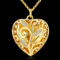 Wholesale Heart Necklace Red Rose - Inlaid Stone Three - dimensional Necklace Japan and South Korea Fashion Wild Temperament Sweater Chain Long Pendant Necklace
