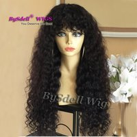 Wholesale new fashion hairstyles online - New Trendy Fashion Curly Hairstyle Wig Synthetic Lace Front Wig Afro Fluffy Water Curly Hair Full Wigs for Black Women