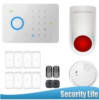 Wholesale Touch Gsm Alarm Access - LS111- 263kit 315MHZ Chuango G5 Touch Keypad GSM SMS Wireless Home Security Burglar Alarm System RFID Access Control 315MHZ