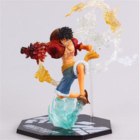 Wholesale One Piece Figures Japanese Anime - One Piece Monkey D Luffy Battle Ver. Figuarts Zero Boxed Action Figures PVC Anime Toys Japanese Cartoon Doll Toys