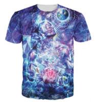 kuş stili gömlek toptan satış-Kadınlar / Erkekler 3d Transcension T-Shirt Trippy Tasarım Toprak Semboller Kuşlar Kelebekler T Gömlek Yaz Tarzı Tops Tees S-5XLKK65