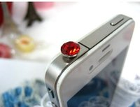Wholesale Colourful Plug - For Iphone 6 Dust plug Iphone 5s Plus For Samsung Dust Plug 3.5MM Universal colourful Rhinestone Shining Dust Plug